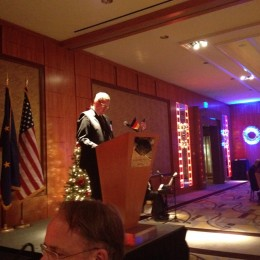 German Consul General Ralf Schuette addressing gala guests