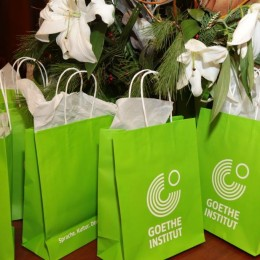 goody bags provided by Goethe-Instiut Boston