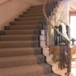 The excitement builds as you climb the grand staircase to the event
